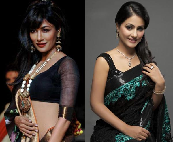 How to Accessorize a Black Saree - Step 3
